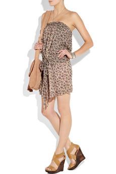 Vanessa Bruno Athé floral-print silk-chiffon strapless dress
