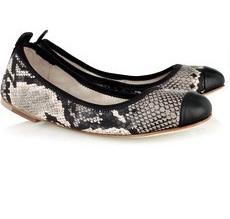 Bloch Carina snake-print leather ballerina flats 2