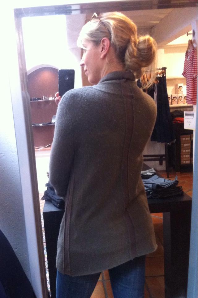 Inhabit cashmere panels long cardi -back