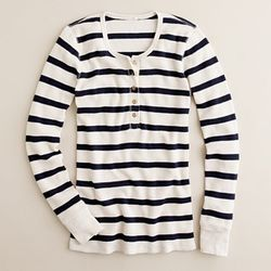 J. Crew Vintage Thermal Henley Stripe