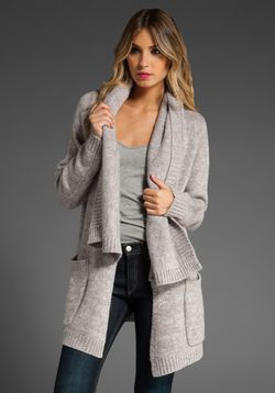 fffabulous - line cashmere cardigan in polar bear