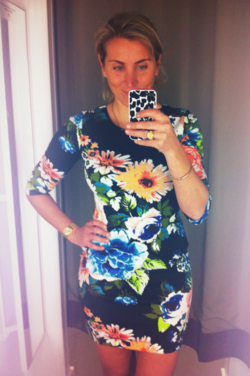 H&M Fitted Floral Dress