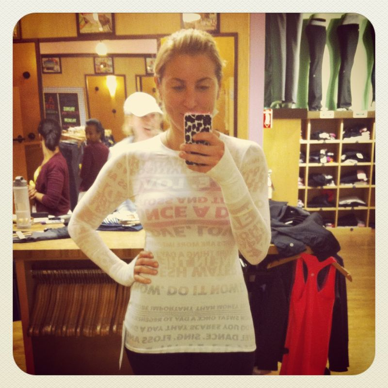 Lululemon Athletica Manifesto Long Sleeve Top
