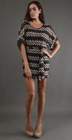 Karina Grimaldi Camille Mini Dress Tunic Dress