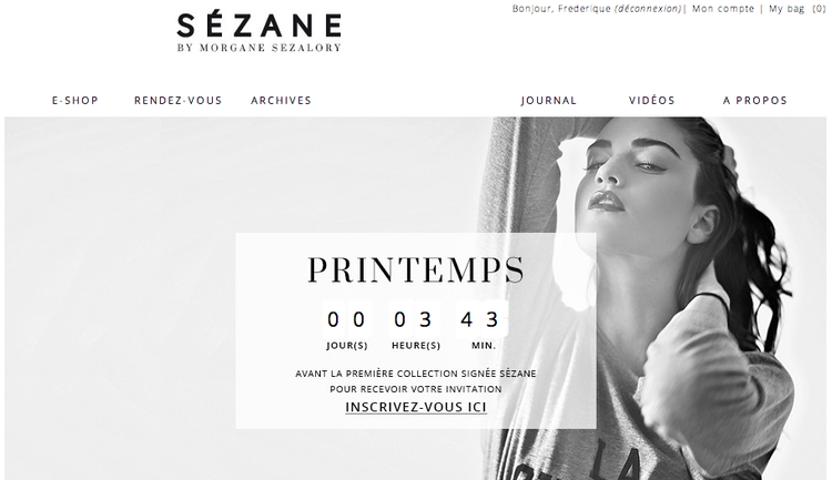Sezane by Morgane Sezalory e-commerce website