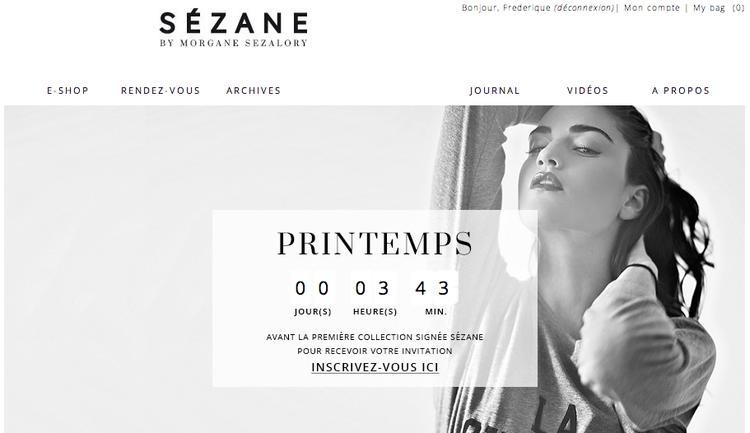Sezane by Morgane Sezalory e-commerce website