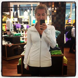 Lululemon Athletica Contempo Jacket in white