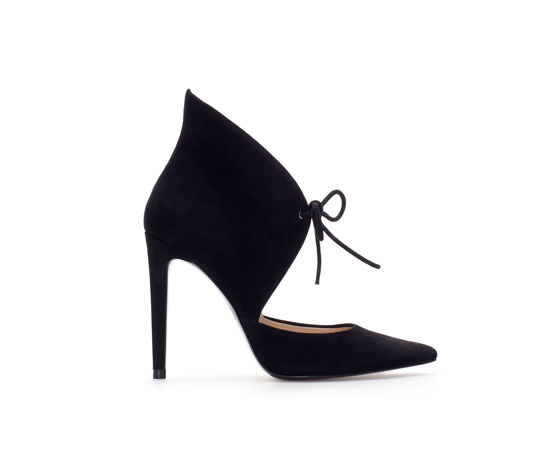 Zara Leather Ankle Boot Style Court Shoe