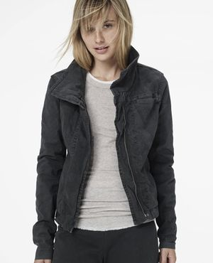 James Perse Skinny Moto Jacket in Abyss Pigment