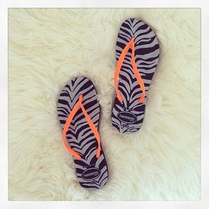 HAVAIANAS SLIM ANIMALS FLUO SANDALS