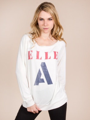 Sol Angeles Elle A White Top Sweater