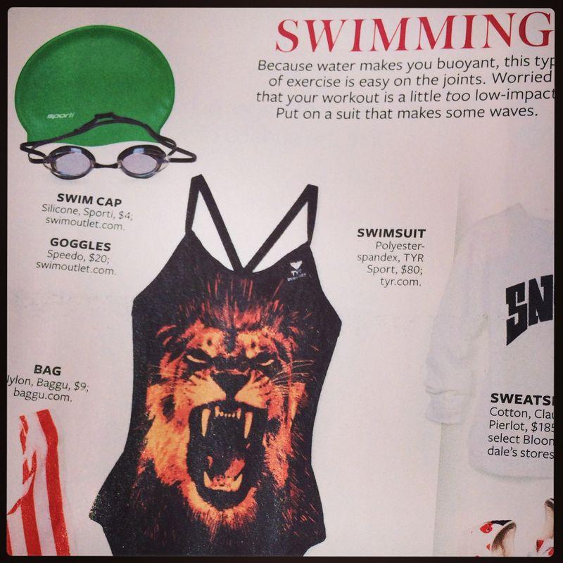 TYR Women's Zion DiamondFit Swimsuit in Black Orange