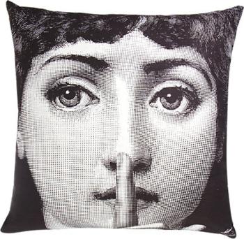 Fornasetti Silenzio Pillow - front