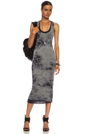Enza Costa Doubled Tank Pima Cotton Dress in Ombre & Tie Dye
