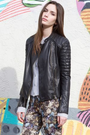 Margaret O'Leary San Francisco Leather Jacket