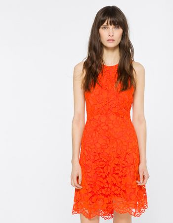 Sandro Paris Rehab Dress in Blazing Orange too