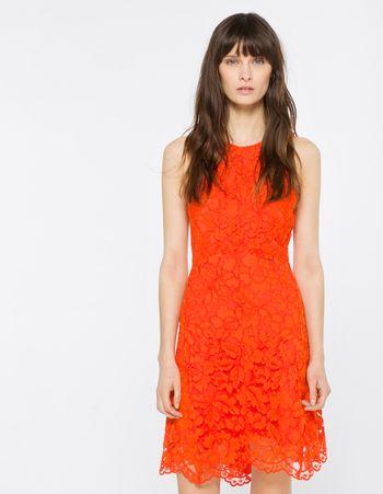 Sandro Paris Rehab Dress in Blazing Orange too