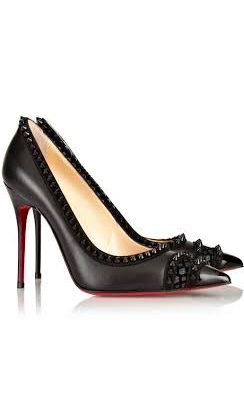 Christian Louboutin Malabar Hill 100 Spiked Leather Pump