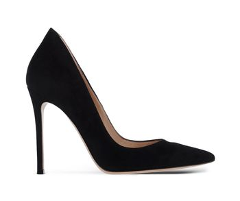 Gianvito Rossi Ellipsis Black Suede Pumps