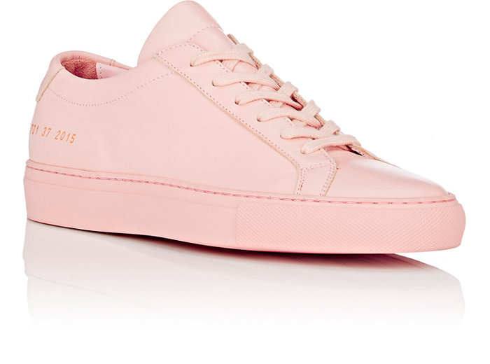 Woman by Common Projects Pink Original Achilles Sneakers 2