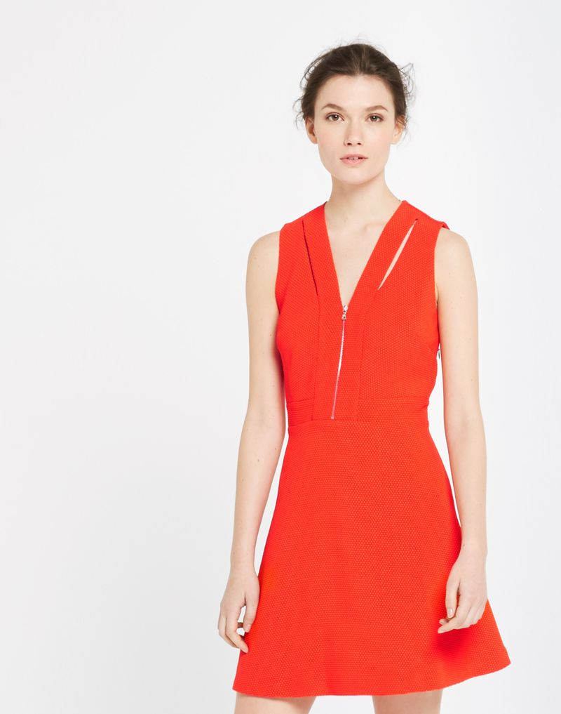 Sandro Paris Relax Cut-out Dress in Bright Red too