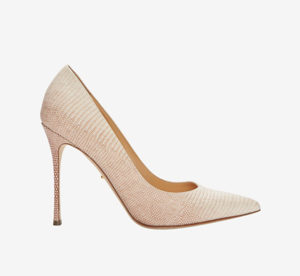 Sergio Rossi Godiva Lizard Leather Pump