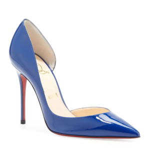 Louboutin Iriza 100 Red Sole Patent Leather D Orsay Pump - fffabulous